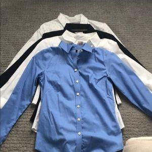 4 Banana Republic Button Up Shirts, Size 2